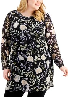 Calvin Klein Plus Size Printed Tunic Top