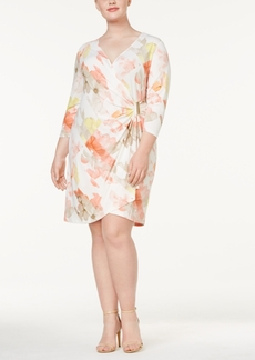 Calvin Klein Plus Size Printed Wrap Dress