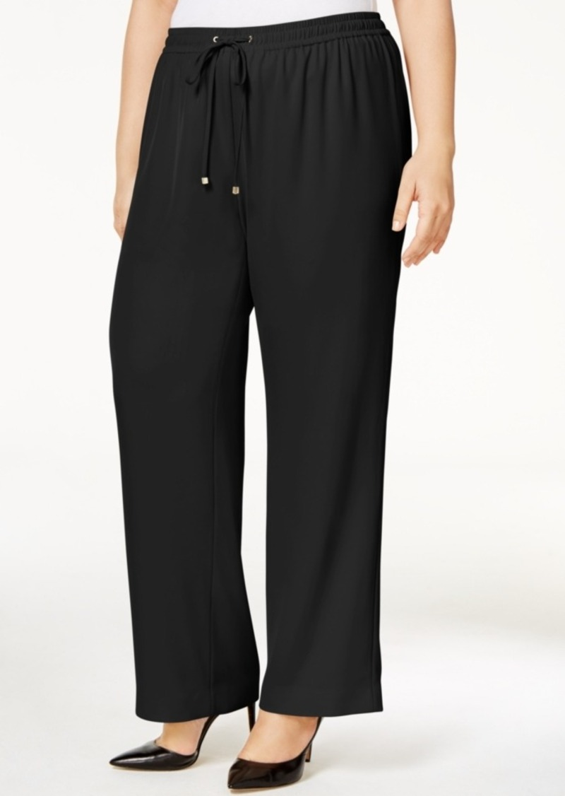 Calvin Klein Calvin Klein Plus Size Pull-On Wide-Leg Pants ...