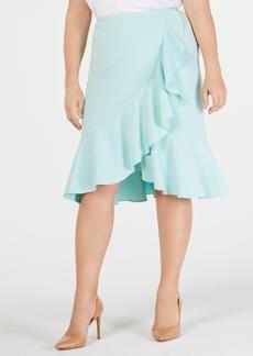 Calvin Klein Plus Size Ruffled Tulip-Hem Skirt
