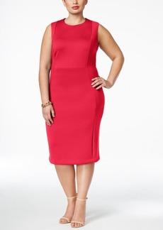 Calvin Klein Plus Size Scuba Seamed Sheath Dress