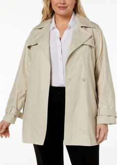 Calvin Klein Plus Size Single-Button Trench Coat