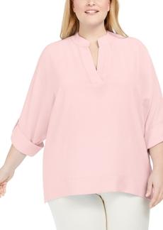 Calvin Klein Plus Size Split-Neck Tunic
