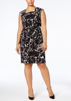 Calvin Klein Plus Size Square-Neck Sheath Dress