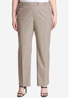 Calvin Klein Plus Size Straight-Leg Plaid Pants