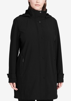 Calvin Klein Plus Size Stretch Softshell Raincoat