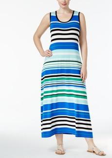 Calvin Klein Plus Size Striped Maxi Dress
