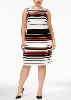 Calvin Klein Plus Size Striped Sheath Dress