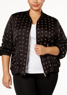 Calvin Klein Plus Size Studded Bomber Jacket