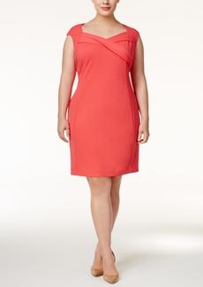 Calvin Klein Plus Size Surplice Sheath Dress