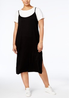 Calvin Klein Plus Size T-Shirt Slip Dress