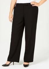 Calvin Klein Petite Plus Size Tab-Waist Pants