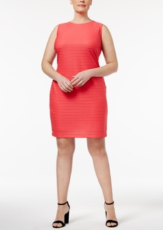 Calvin Klein Plus Size Textured Sheath Dress
