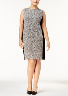 Calvin Klein Plus Size Tweed Sheath Dress