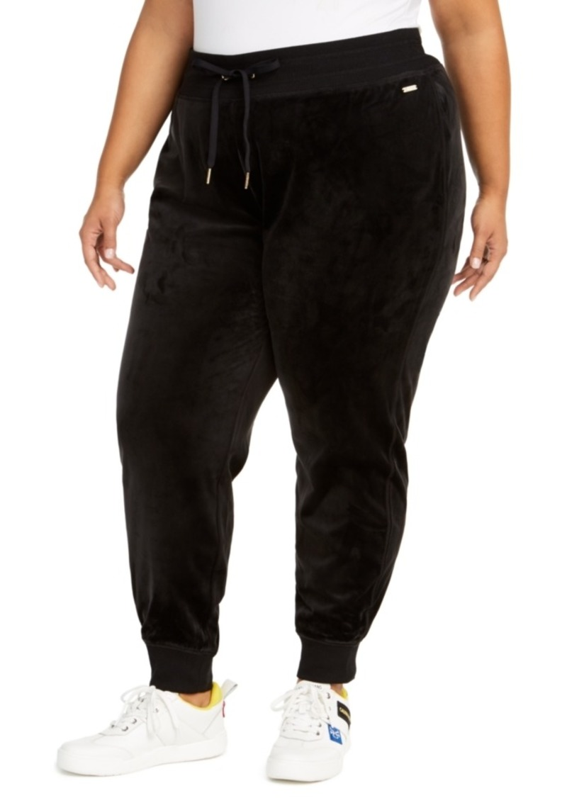 Calvin Klein Plus Size Velour Jogger Pants