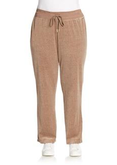 Calvin Klein Plus Velour Track Pants