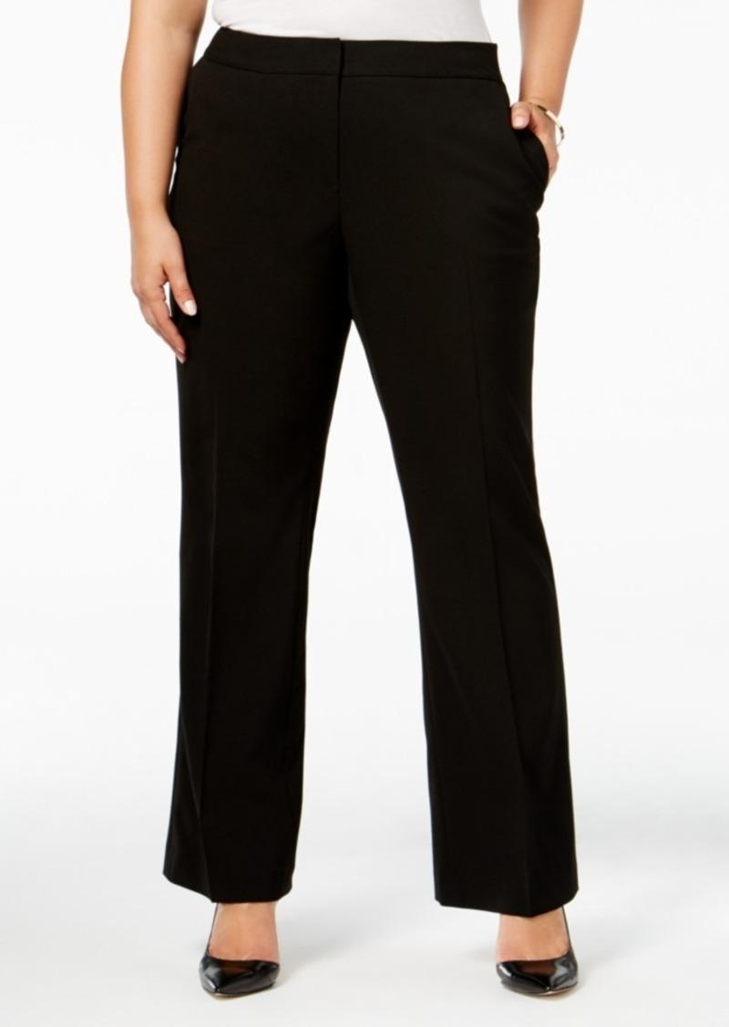 Wide Leg Plus Size Dress Pants