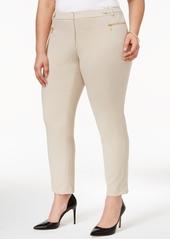 Calvin Klein Plus Size Straight-Leg Ankle Pants