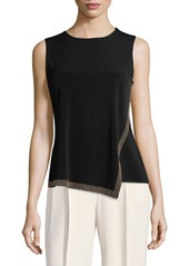 Calvin Klein Sleeveless Asymmetric Top