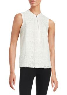 Calvin Klein Plus Sleeveless Textured Blouse