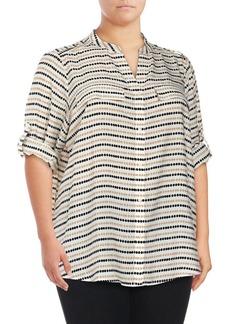 Calvin Klein Plus Striped Blouse