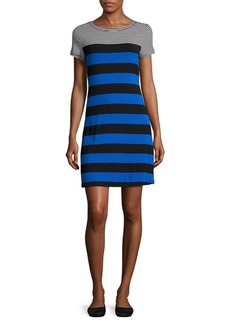 Calvin Klein Plus Striped T-Shirt Dress