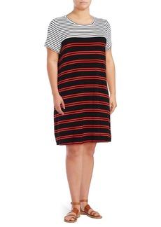 Calvin Klein Plus Striped T-Shirt Dress