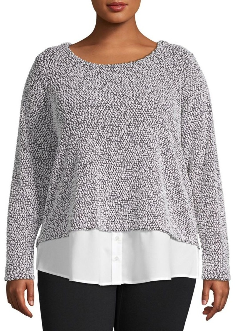 Calvin Klein Plus Textured Twofer Top
