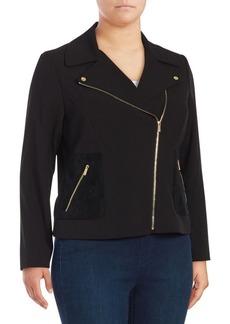 Calvin Klein Plus Zip Moto Jacket
