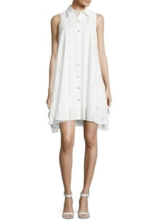 Calvin Klein Point-Collar Cotton Dress
