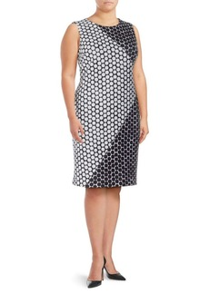 Calvin Klein Polka Dot-Print Sheath Dress