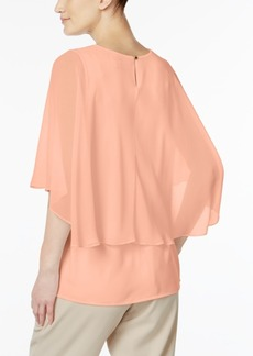 Calvin Klein Poncho-Overlay Blouse