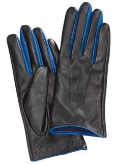 Calvin Klein Pop-Color Leather Gloves