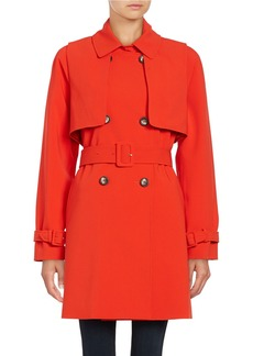 CALVIN KLEIN Popover Double-Breasted Trench Coat