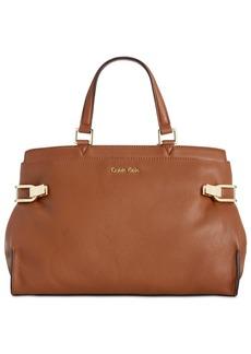 Calvin Klein Premium Leather Satchel