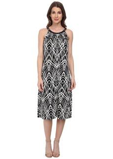 Calvin Klein Print Halter Midi Dress