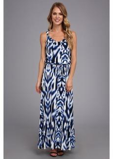 Calvin Klein Print Maxi Dress w/ Hrd