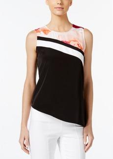 Calvin Klein Printed Asymmetrical Shell