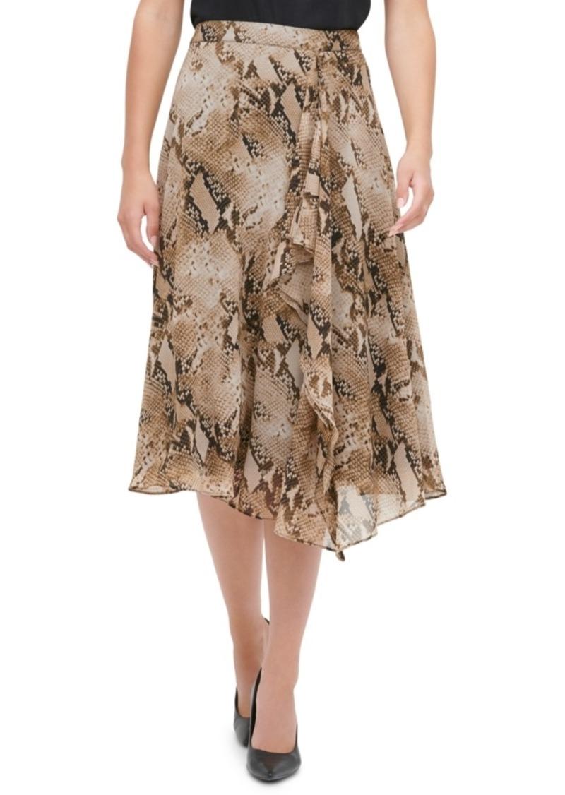 Calvin Klein Printed Asymmetrical Skirt