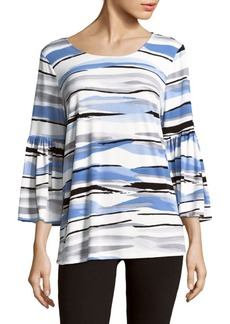Calvin Klein Printed Bell Sleeves Top
