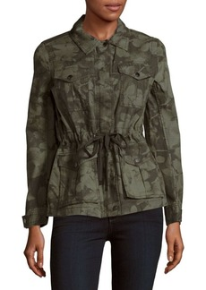 Calvin Klein Printed Cotton Utility Jacket