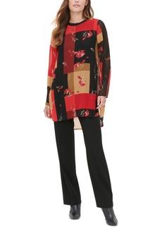 Calvin Klein Printed Crewneck Tunic