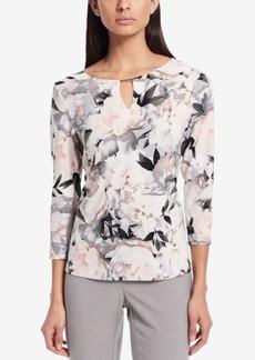 Calvin Klein Printed Embellished Blouse