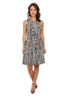 Calvin Klein Printed Fit & Flare Scuba Dress