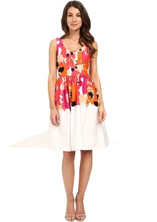 Printed Fit and Flare Dress CD6G2R6K