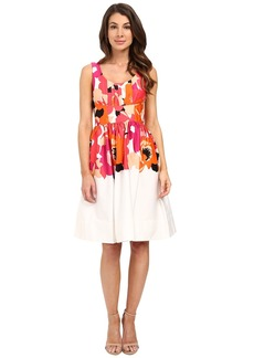 Calvin Klein Printed Fit and Flare Dress CD6G2R6K
