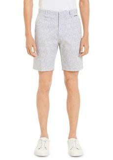 Calvin Klein Printed Flat Front Shorts