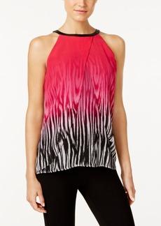 Calvin Klein Printed Halter Top
