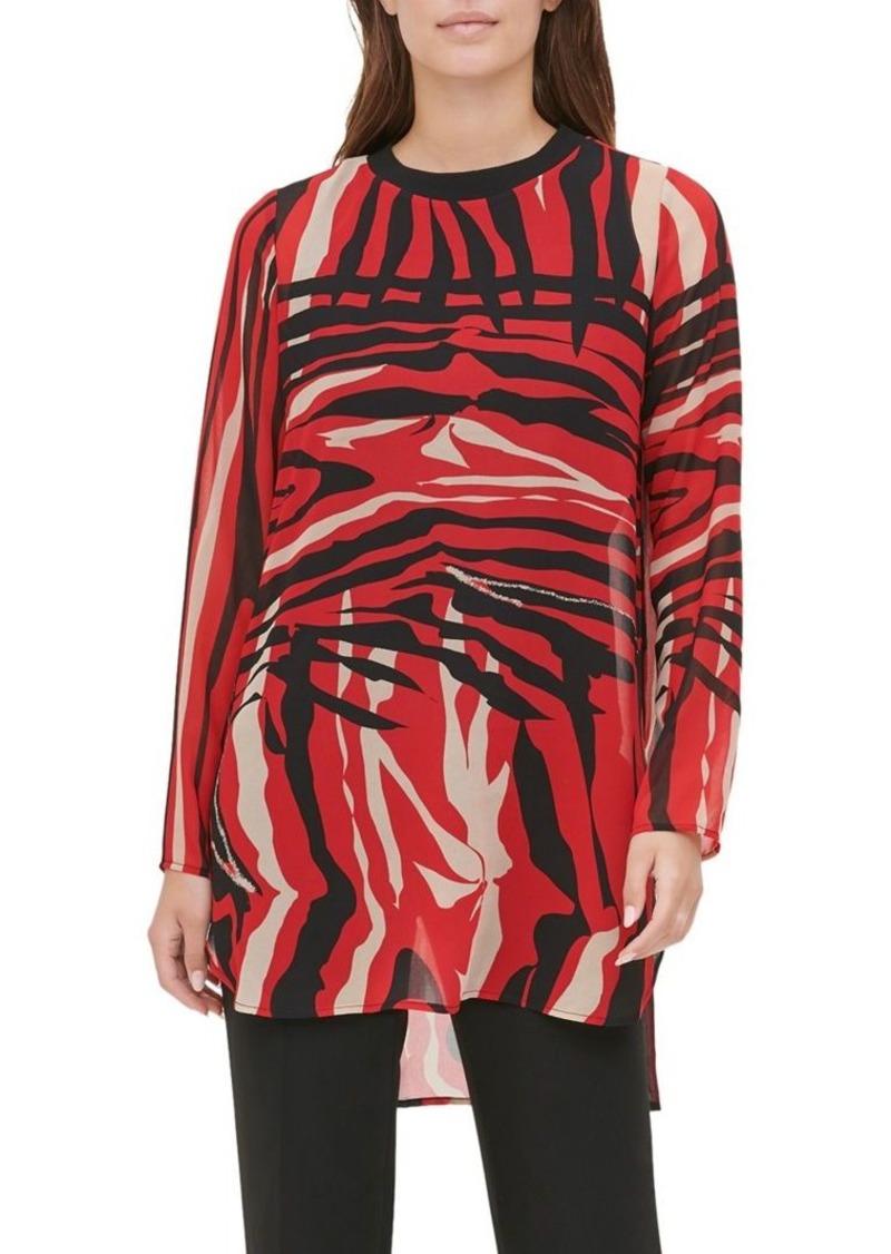 Calvin Klein Printed High-Low Tunic