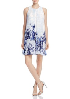 Calvin Klein Printed Inverted Pleat Dress